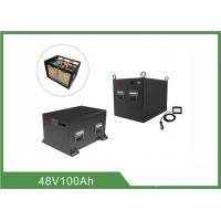 China 48V 100AH / 200AH Marine Rv Deep Cycle Battery Iron Case Material on sale