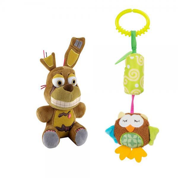 Quality Custom High quality fashion cute rabbit ears plush toy fur keychain with fox Metal Buckle Key Ring women's bag pendent for sale