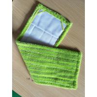 Green Twisted Fold Oxford Fabric Pocket Microfiber Wet Mop Pads 14*48 Manufactures