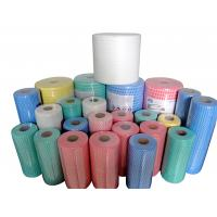 Multi Purpose spunlace Nonwoven Cleaning Cloth Roll / Dishcloth Cleaning Wipes Roll Manufactures