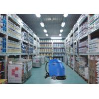 Blue Semi Automatic Compact Floor Scrubber Machine For Drugstore / Store House Manufactures