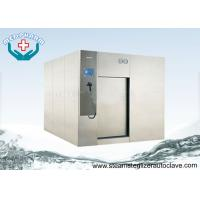 PLC System Large Pharmaceutical Autoclave Steam Sterilizer With Horizontal Sliding Door Manufactures
