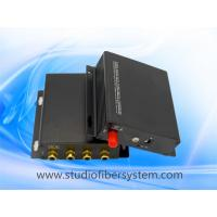 4CH broadcast audio fiber converters with RCA interface for 4CH digitally encoded audio to 10~120KM Manufactures