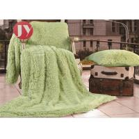 China Decorative Long Haired Plush Fur Blanket Shaggy Soft Fuzzy Microfiber For Twin on sale