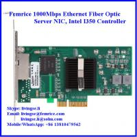 10/100/1000Mbps 2 Ports RJ-45 Connector Gigabit Ethernet Server NIC, Intel I350 Chipset Manufactures