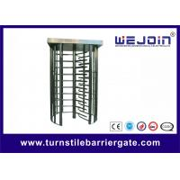 China Pedestrian Security Gates Automatic Turnstile Full Height With Memory Function on sale