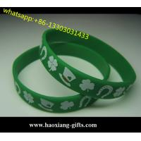 Cheap custom silicone bracelet/silicone wristband glow in the dark for events