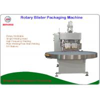 Semi Automatic Rotary Blister Packing Machine Turntable Construction 0.5-0.6 Mpa Manufactures