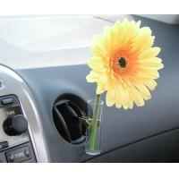 Glass Auto Vase Yellow Daisy, Car Flower Vase with Univeral Metal ClipTS-AV03 Manufactures