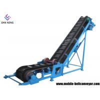 China Sidewall Cleated Truck Loading Belt Conveyor , Portable Truck Loading Conveyor For Materials Conveying on sale