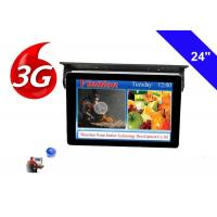 Bus TV Monitors 24 Inch LCD Display with 3g network cloud managing system Manufactures