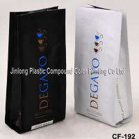 Aluminium Foil Plastic Coffee Packaging Bags Quad Sealed With Side Gusset Manufactures