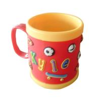 cute food grade silione 8*8 tea/coffee Mug with customized design for promotion Manufactures