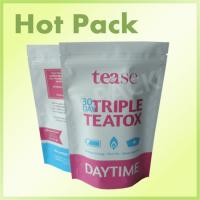 Top Zip Plastic Stand Up Pouch With Tear Notch , Personalised Biodegradable Tea Bags