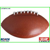 Popular Classic Brown Official Size Rugby Ball with 4 Panels for Game Manufactures