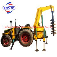 BS850 trench digging tractor machine 2M hole diameter pole erection machine equipment Manufactures