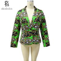 Long Sleeve Lined Kitenge Fabric African Ladies Jackets Wax Printed Colorful Manufactures