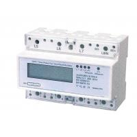 Three Phase Four Wires Din Rail KWH Meter Active Energy With LCD Display Manufactures