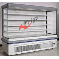 Adjustable Multideck Open Front Refrigerated Display Case With White Epoxy Shelf Manufactures