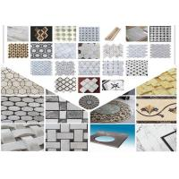 Polished Surface Marble Mosaic Tile 305mm * 305mm * 10mm / Customed Size Manufactures