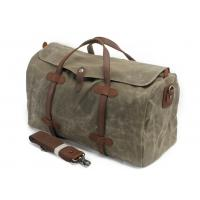 CL-600 Army Green Vintage Travel Bag Waxed Canvas Leather Duffle Bag Manufactures