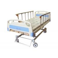5 Functions Manual Hospital Bed With Folding Aluminium Alloy Handrails Manufactures