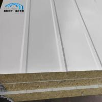 Light Weight Commercial Tent Parts Rock - Wool Sandwich Panel Wall Manufactures
