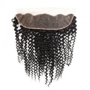 China Kinky Curly Brazilian Body Wave Lace Closure Unprocessed Human Hair on sale