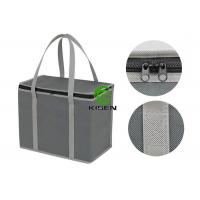 China Zippered Shoulder Insulated Cooler Bags Non Woven For Wine Delivery Custom Size on sale