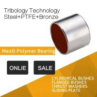 Steel Red Modified PTFE Cylindircal Bushes , Tin Or Copper Plated RoHS Manufactures