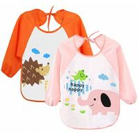 Cute Unisex Baby Bibs / 6 Months-3 Years Baby Weaning Bibs With Sleeves Manufactures