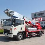 Euro 2 Double Cabin Aerial Work Platform Truck 8-20m Work Height 160hp ZZ1324N3325S Manufactures