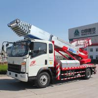China Euro 2 Double Cabin Aerial Work Platform Truck 8-20m Work Height 160hp ZZ1324N3325S on sale
