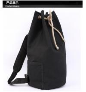 Black Drawstring Sports Backpack , Large Capacity Cinch String Backpack Manufactures