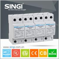 4 Pole white Power Surge protector 20kA - 40kA 220V low voltage Manufactures
