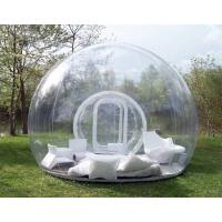 China 1.0mm PVC Clear Inflatable Bubble Tent / Camping Tent for Family Party 4m Dia on sale