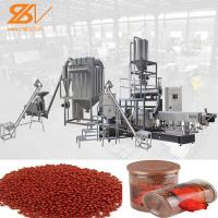 380v / 50hz Fish Feed Processing Machine Double Screw Extruder CE Certification Manufactures