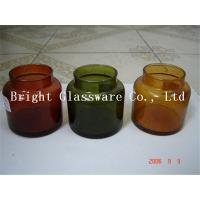 colorful glass candle container, candle jar, blown jar Manufactures