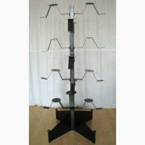 Full Motorcycle Helmets Metal Equipment Rack Adjustable With Casters Manufactures