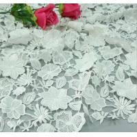 Chemical Lace Ivory Color Water Soluble Embroidery Fashion fabric for Garment Accessories Manufactures