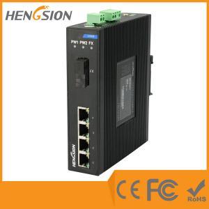 4 Megabit Ethernet / 1 Megabit FX 5 Port Network Switch Din Rail Manufactures