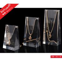 High Transparent Acrylic Jewelry Display Stands Plexiglass Necklace Holder Manufactures