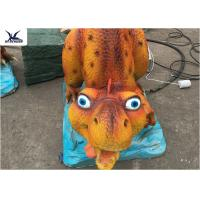 Animatronic Cartoon Realistic Dinosaur Models 2 Meters Long For Children Park Decoration Manufactures