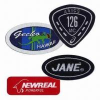 Woven Badges/Labels, Customized Shapes, Sizes and Designs are Accepted Manufactures