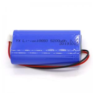 Rechargeable CC CV MSDS 5200mAh Li Ion 3.7 V Battery Manufactures