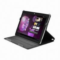 Two-folio PU Leather Case for Samsung P7100/Tablet PC, Multiple Viewing Angles Available Manufactures