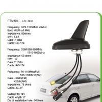 Black AM FM Car GPS Antenna With 0.3M Sticker , SMA Male Connector Manufactures