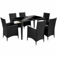 KD Black Indoor Wicker Outdoor Rattan Dining Set In All Weather Manufactures