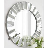 Full Beveled Wall Mirror Decor, Framless 3D Decorative Round Wall Mirrors Manufactures