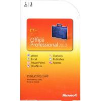 China Original Microsoft Office 2010 Professional Retail Box With Active Key Label on sale